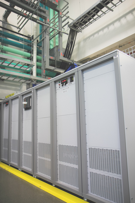 Figure 3. Multiple Magna-Power 250 kW MT Series power supplies at NREL used for solar array emulation. Icon