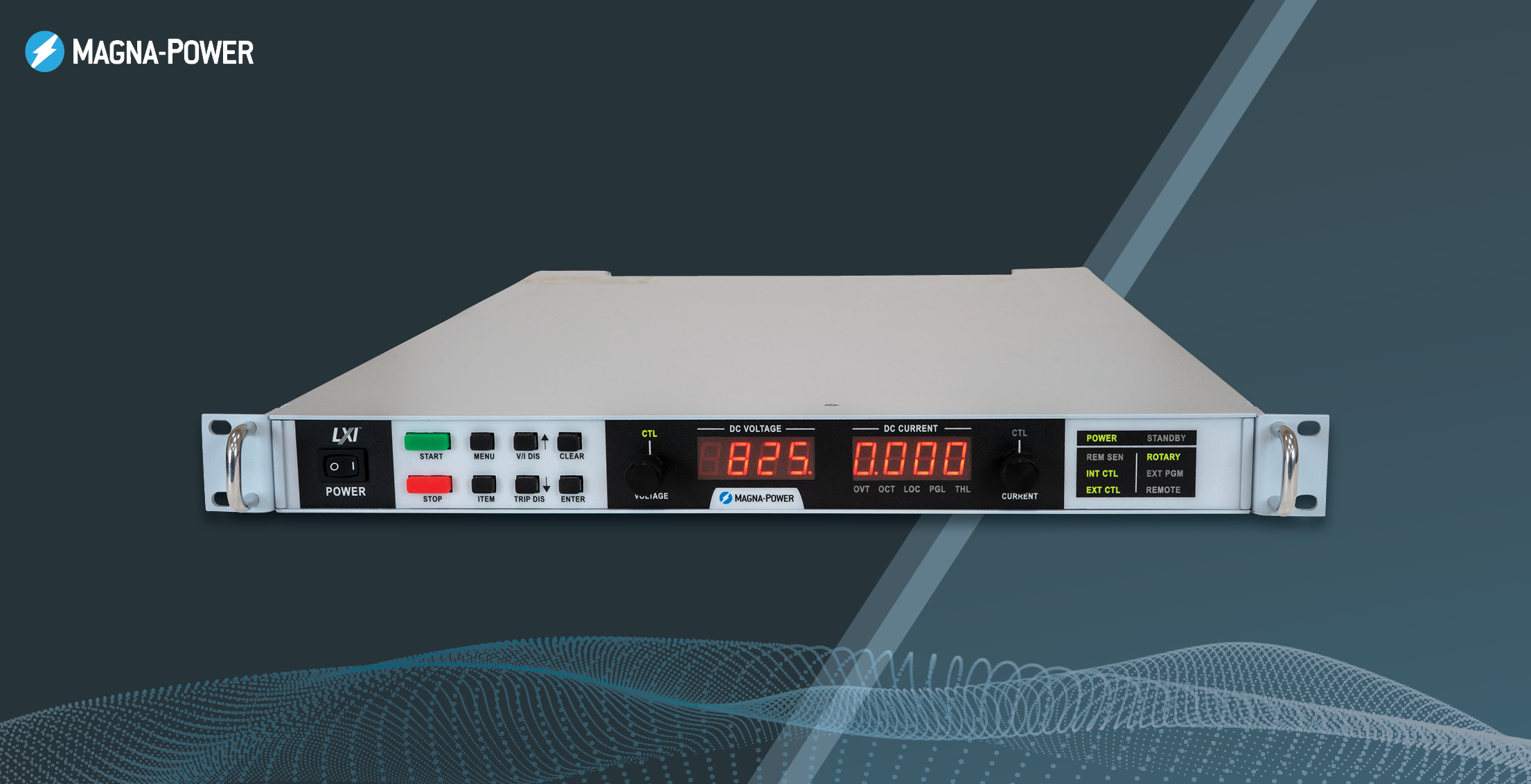 SL Series MagnaDC programmable DC power supply, now 10 kW in 1U. Icon